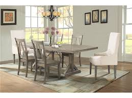 table 4 chairs. elements international finn dining table, 4 side chairs \u0026 2 parsons - great american home store 7 (or more) piece sets table x