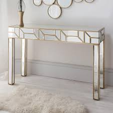 mirror console table. geometria gold \u0026 mirrored console table mirror t