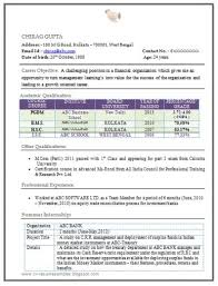 Resume Format For Experienced Mba Finance Resume Templates