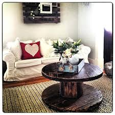 cable coffee table spool coffee table turned out great facebookcom wooden cable drum coffee table