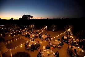 enticing string light bulbs and outdoor party string light for backyard decor inspiration