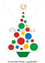 Christmas Ball Tree Simple Illustration Of Christmas Tree Shaped