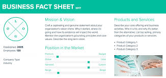 Company Fact Sheet Sample How To Create A Fact Sheet Xtensio