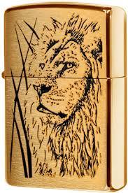 204B <b>Proud</b> Lion <b>Зажигалка Zippo</b>, Brushed Brass