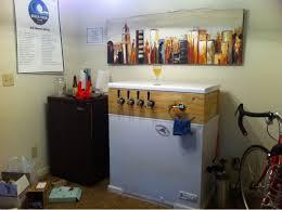 Ge Freezer Fcm7suww I Finally Built A Keezer Four Taps In My Shitty One Bedroom