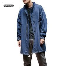 2018 whole autumn new men denim trench coat male fashion casual loose jean windbreaker jacket mens overcoat from xiatian7 60 89 dhgate com