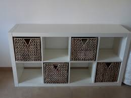 captivating  storage organized shelves with cubical wicker
