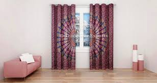 Indian Windows Design For Home Indian Mandala Curtains Decorative Windows Curtain Set Of 2 Panels Boho Door Hanging Drapes Ethnic Tapestry Curtains Room Darkening Panels Window