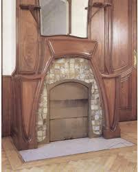 art nouveau jugendstil fireplace