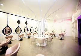 Fancy Hair Design Fancy White Hairdressing Salon Shop Interior Decorate Design