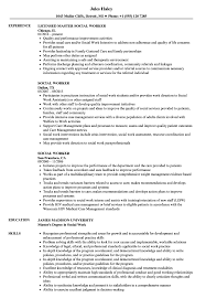Social Work Resume Skills Social Worker Resume Samples Velvet Jobs 51
