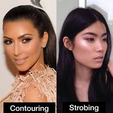 the best way to describe strobing is that it s contra contouring you re basically only highlighting your face on its most prominent points