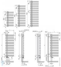 <b>Полотенцесушитель</b> стальной <b>Zehnder Yucca</b> Asym YAD-130-050