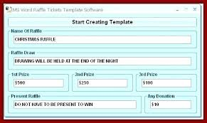 Draw Tickets Template Word Document Raffle Ticket Template Free Templates Skincense Co