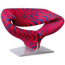 ribbon chair in original artifort psychodillic color fabric pierre paulin 1966 for