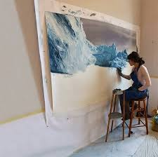 amazing finger paintings of icebergs by zaria forman