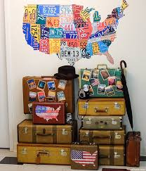 Old luggage serves as great vintage decor and they make it easy to give  your home a playful travel vibe.