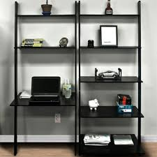 office book shelf. leaning shelf bookcase with computer desk office furniture home wood book