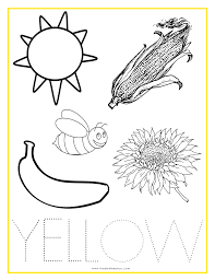 Small Picture YELLOW Color Activity Sheet Repinned by Totetudecom School