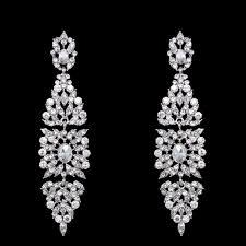 rhinestone big chandelier earrings for women and girls
