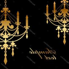 gold chandelier clip art depositphotos 35158667 vector black background with gold chandelier simple