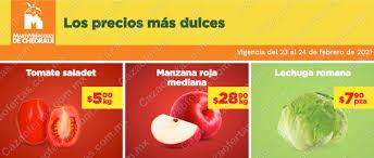 Ofertas Chedraui Martimiércoles de frutas y verduras 23 y 24 de febrero 2021