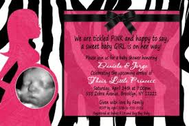 Hot Pink And Zebra Baby Shower Invitations  ZdornacinfoPink Zebra Baby Shower Invitations