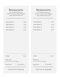 Free Free Restaurant Receipt Template