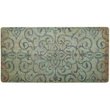 cook n comfort green rustic medallion 20 in x 39 in kitchen mat