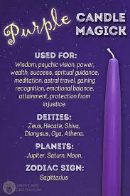 Astral Candle Color Charts Purple Candle Magick Grove And Grotto