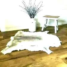 animal hide rug skin rugs for south cow real white desk with drawers cowhide faux