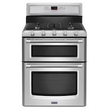 maytag maytaggemini reg 6 0 total cu ft double oven self clean convection gas range