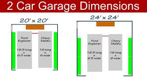garage door sizeIdeal 2 Car Garage Dimensions  YouTube