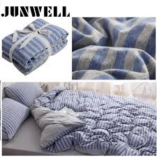 3pcs set duvet cover set 100 yarn dyed cotton jersey quilt cover japanese style stripe