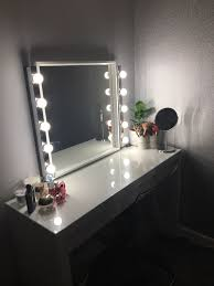 Ikea Dressing Table Mirror And Strip Lighting Dressing