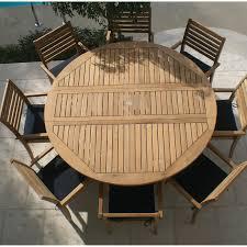 royal teak 72 in round dropleaf avant patio dining set seats 8 hayneedle
