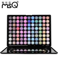 msq professional 88 colors eyeshadow palette glamorous smokey eye shadow shimmer colors makeup kit in eye shadow from beauty health on aliexpress