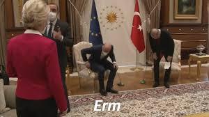 Ursula von der Leyen suggests Turkey was sexist for failing to give her a  seat at meeting with Erdogan