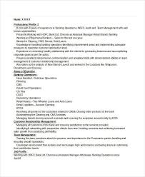 retail banker banking resume samples 45 free word pdf documents download