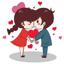 Cute Couple Png Valentines Day Cute Little Couple Png Image Free Download