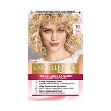 L Oreal Excellence Age Perfect Colour Chart Excellence Creme 10 Natural Baby Blonde Hair Dye