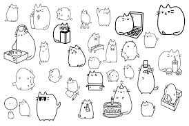 Pusheen Coloring Pages Coloring Pages Coloring Pages Plus Coloring