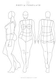 Fashion Illustration Template Front And Back Grupofiveco