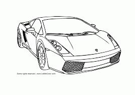 Race Cars Coloring Pages Lamborghini Gallardo Racing Car Page