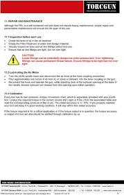 Jgun Torque Chart User Manual Jgun Single Speed Jgun Dual Speed Plus Jgun