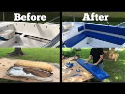 how to re your boat seats and