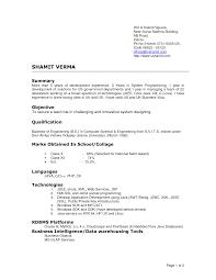 New Resume Pattern For Freshers Bongdaao Com