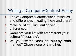 compare contrast essays norm johnson spring ppt  writing a compare contrast essay 1