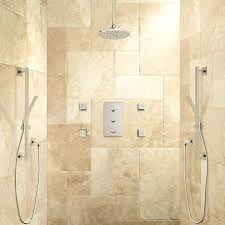 thermostatic shower system 2 hand showers 4 sprays bathroom grohe euphoria with tub spout