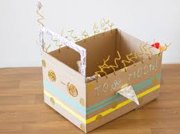Decorating Cardboard Boxes DIY Cardboard Box Rocket Ship 85